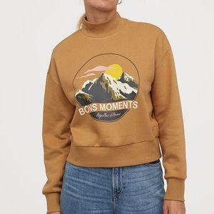 H&M Bons Moments Mock Neck Sweatshirt